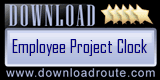 Employee Project Clock - Employee Time Recording Software